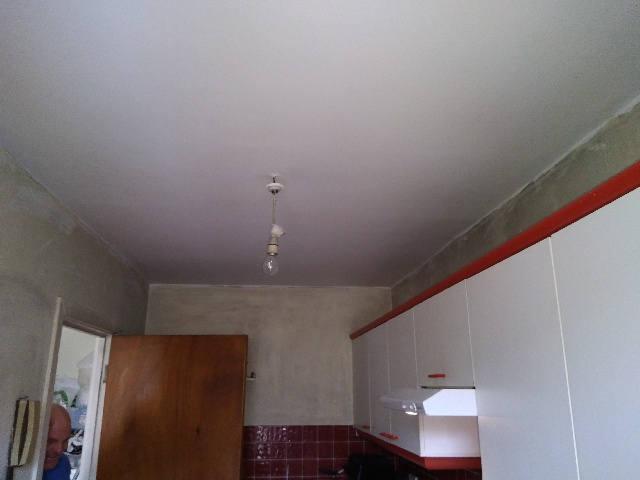 New plaster, skimming and paint to repair fire damage ceiling in apartment Property Repair Guys 365