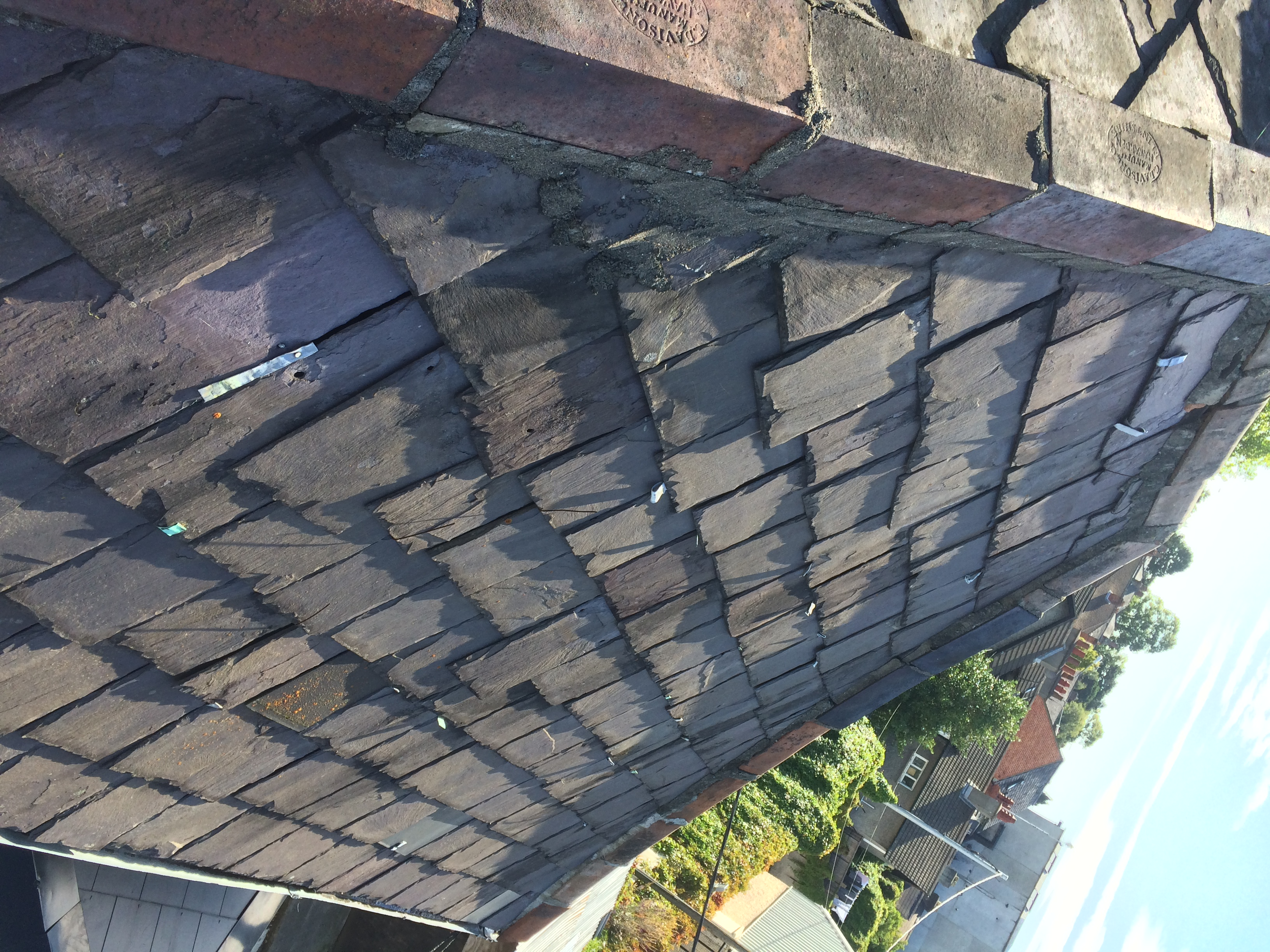 Property Repair Guys Perished Slate roof prior to works