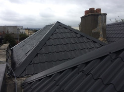 Property Repair Guys 365 Roof works with powder coated roof covering in black finish