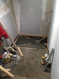 Property Repair Guys 365 wet room bathroom concrete moulding for intake drain