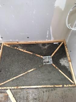 Property Repair Guys 365 wet room bathroom concrete moulding for intake drain shower