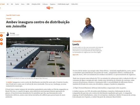 Portal NSC destaca trabalho da Tilp & Wermon junto ao CD da AMBEV em Joinville