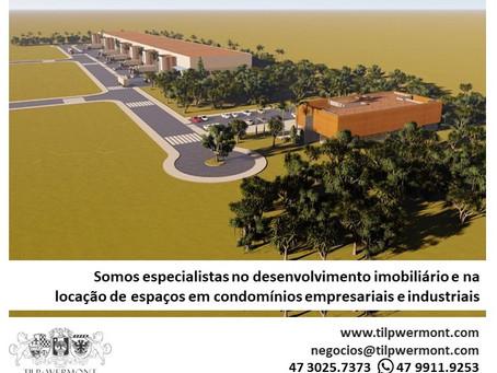 Desenvolvimento imobiliário e locação em condomínios empresariais, industriais e logísticos