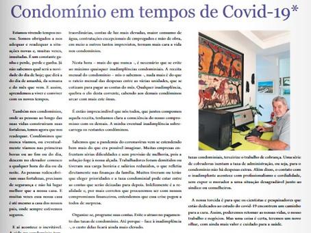 Artigo: Condomínio em tempos de covid-19