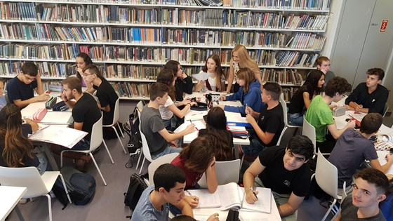 פעילות בשיעור ספרות בספרייה
