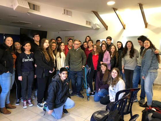 ביקור מועצת התלמידים במרכז ספיבק