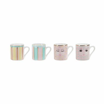 Set tazze da caffè bubblegum