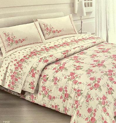 Completo lenzuola rose