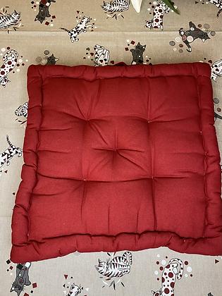 Cuscino mattonella rosso