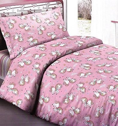 Completo lenzuola Unicorno