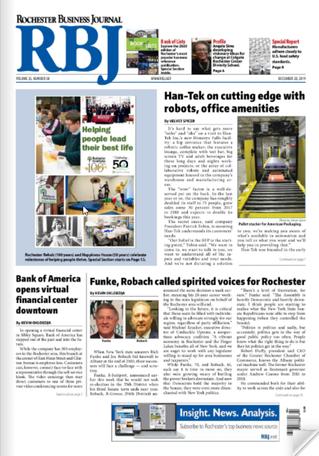 Rochester Business Journal December 20th Edition