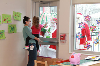 Happiness House gets a surprise visist from Santa