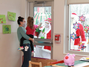 Happiness House gets surprise visit from Santa