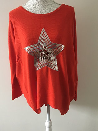 Sequin Star Loose Fit Jumper (2 colours)
