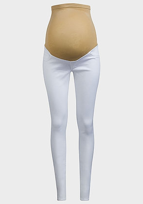 White Jessica Simpson Over Bump Maternity Jeggings Jeans