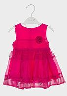 Babaluno baby girl pink ruffle dress