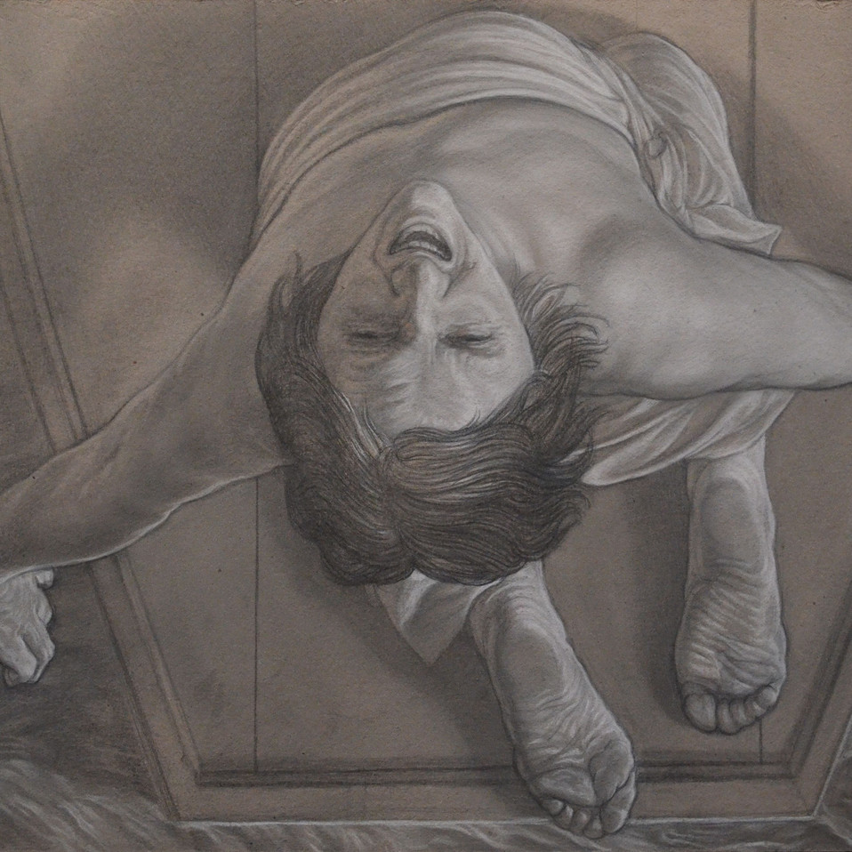 """THE MOTHER (panel of tryptic """"The late"""")"""