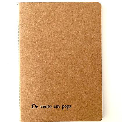 """Caderno """"De vento em popa"""""""