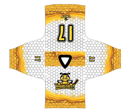 BUMBLEBEES HOCKEY JERSEY WHITE