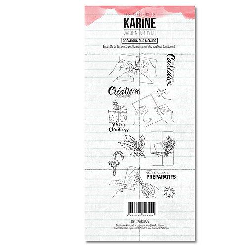 Tampons clears Créations sur mesure - LES ATELIERS DE KARINE-Jardin d'hiver