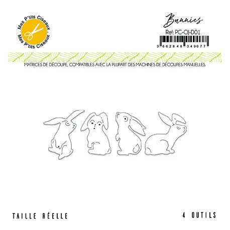 Matrices de découpe Bunnies - O Jardin Mes Ptits Ciseaux