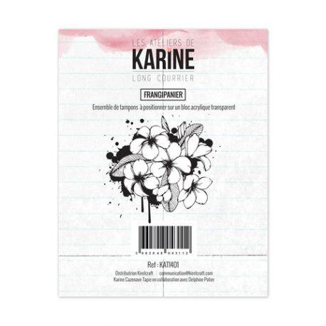 Tampons clears Frangipanier - Les Ateliers de Karine- Long Courrier