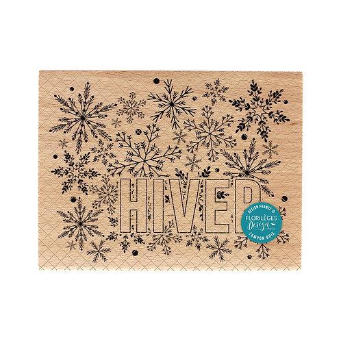Tampon bois Grand Hiver Florilèges Design Christmas Cocooning