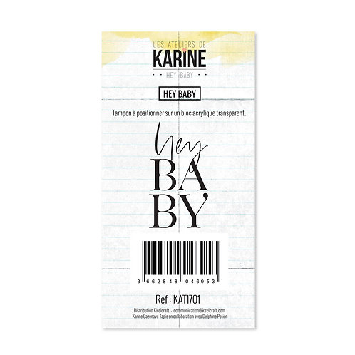 Tampon clear Hey Baby - Les Ateliers de Karine-Hey Baby !