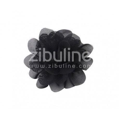 Fleur chiffon noire