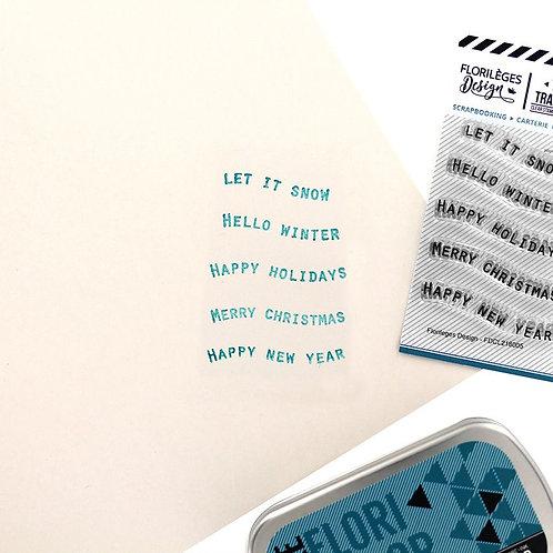 Tampons clears Petits mots bannières 2 Florilèges Design collection The s