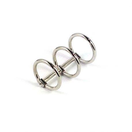 Reliure 3 anneaux 2 cm argenté