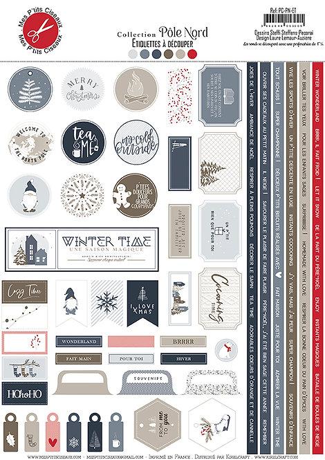Planche d'étiquettes A4 Pôle Nord -Mes Ptits Ciseaux