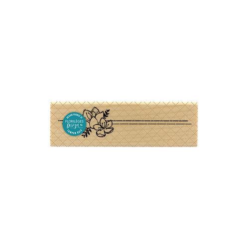 Tampon bois Lignes florales Florilèges Design Un jour spécial
