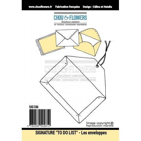 Tampons EZ Les enveloppes Chou & Flowers Signature To do list