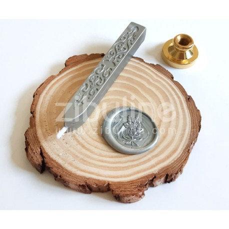 Bâton de cire Argenté avec mèche
