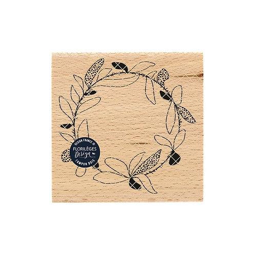 Tampon bois Couronne fantaisie Florilèges Design