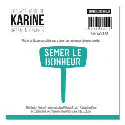Die Semer le bonheur LES ATELIERS DE KARINE-Green & Graphik