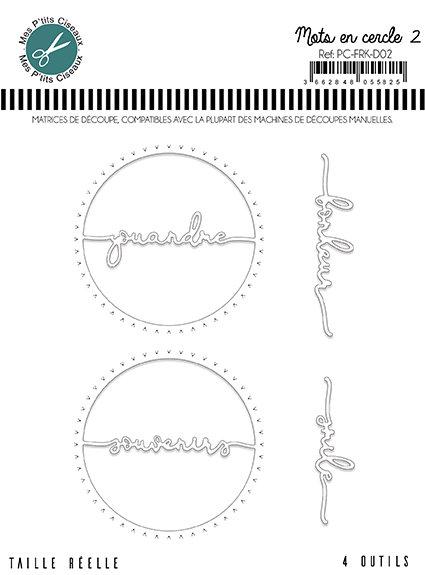 Matrices de découpe Mots en cercle - French Kiss Mes Ptits Ciseaux