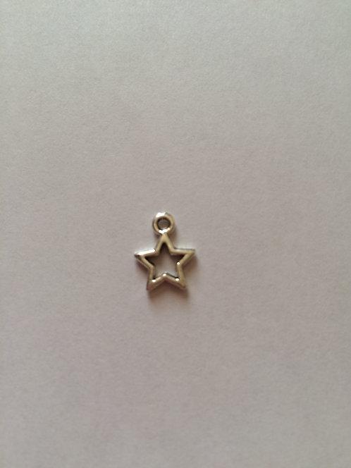 Breloque étoile argentée