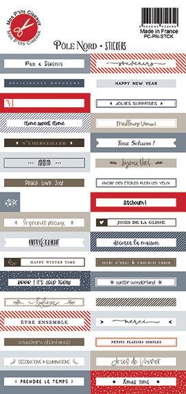 Pôle Nord Stickers -Mes P'tits Ciseaux