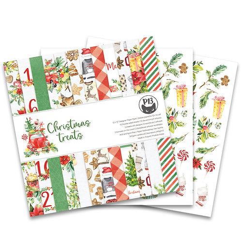 Bloc de 12 papiers 30x30 Collection Christmas Treats Piatek Trzynastego