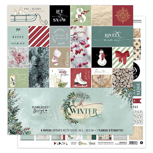 Kit papiers imprimés Oh Winter Florilèges Design