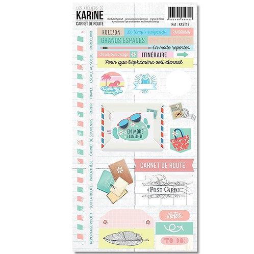 Stickers Carnet de Route LES ATELIERS DE KARINE