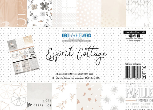 Collection papiers Chou & Flowers Esprit Cottage
