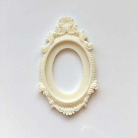 Grand cadre baroque crème