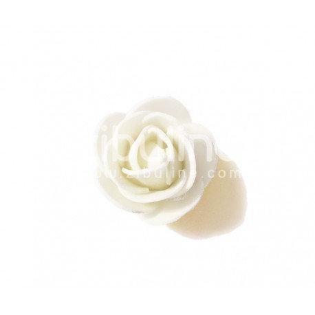 Fleur en mousse blanc