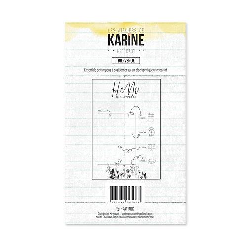 Tampon clear Bienvenue - Les Ateliers de Karine-Hey Baby !