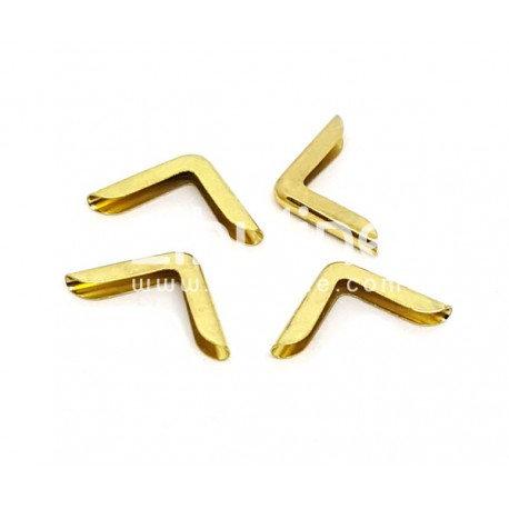Coins métal Simples fins dorés