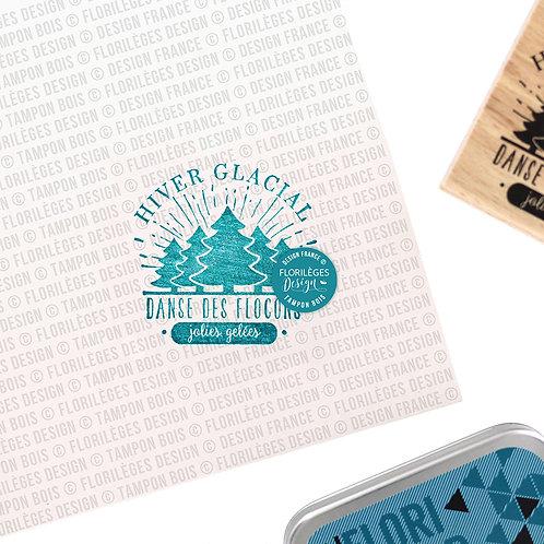 Tampons bois Hiver glacial Florilèges Design