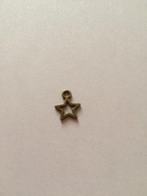 Breloque étoile bronze